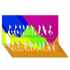Geo Fun 15 Congrats Graduate 3D Greeting Card (8x4)