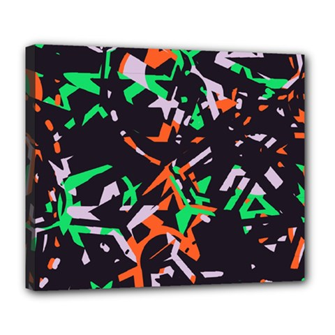 Broken pieces Deluxe Canvas 24  x 20  (Stretched)