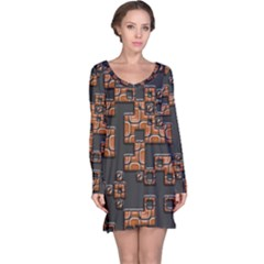 Brown Pieces Nightdress
