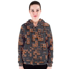 Brown pieces Women s Zipper Hoodie