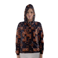 Brown Pieces Hooded Wind Breaker (women)