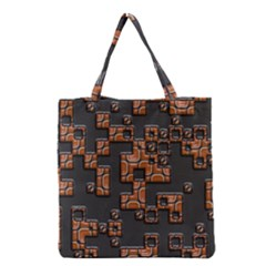 Brown pieces Grocery Tote Bag