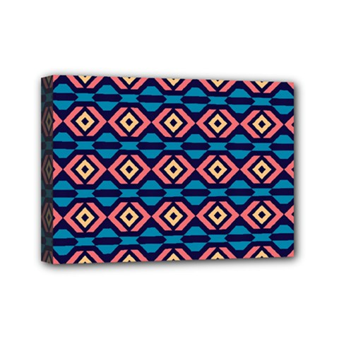 Rhombus  pattern Mini Canvas 7  x 5  (Stretched)
