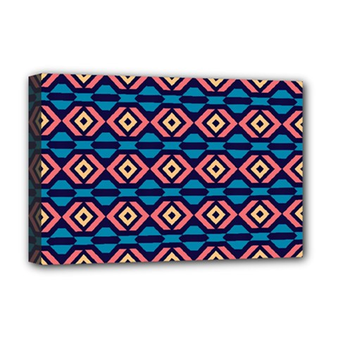 Rhombus  pattern Deluxe Canvas 18  x 12  (Stretched)
