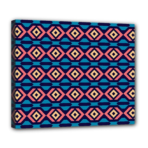 Rhombus  pattern Deluxe Canvas 24  x 20  (Stretched)