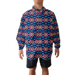 Rhombus  pattern Wind Breaker (Kids)