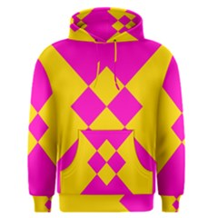 Yellow Pink Shapes Men s Pullover Hoodie