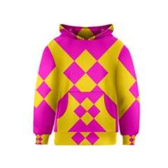 Yellow pink shapes Kid s Pullover Hoodie