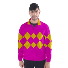 Yellow Pink Shapes Wind Breaker (men)