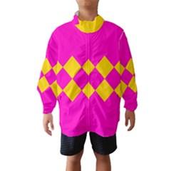 Yellow Pink Shapes Wind Breaker (kids)