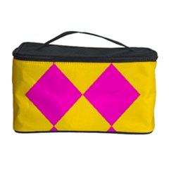 Yellow Pink Shapes Cosmetic Storage Case