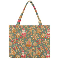 Santa and Friends Pattern Tiny Tote Bags