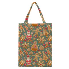 Santa and Friends Pattern Classic Tote Bags