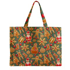 Santa And Friends Pattern Zipper Tiny Tote Bags