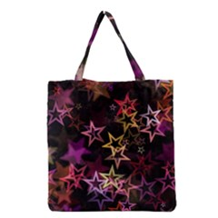 Sparkly Stars Pattern Grocery Tote Bags