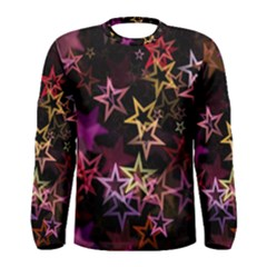 Sparkly Stars Pattern Men s Long Sleeve T-shirts