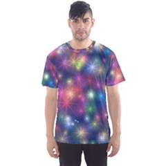 Sparkling Lights Pattern Men s Sport Mesh Tees