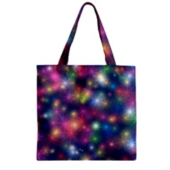 Sparkling Lights Pattern Zipper Grocery Tote Bags
