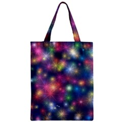 Sparkling Lights Pattern Zipper Classic Tote Bags