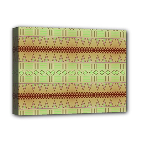 Aztec pattern Deluxe Canvas 16  x 12  (Stretched)