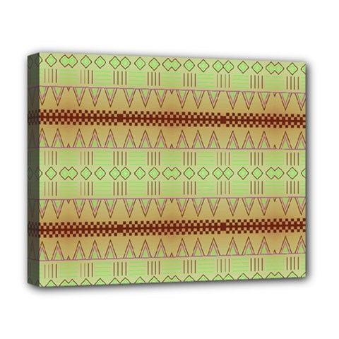 Aztec pattern Deluxe Canvas 20  x 16  (Stretched)