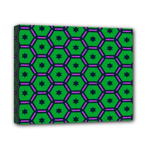 Stars in hexagons pattern Canvas 10  x 8  (Stretched)