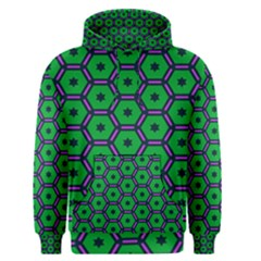 Stars in hexagons pattern Men s Pullover Hoodie
