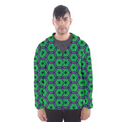Stars in hexagons pattern Mesh Lined Wind Breaker (Men)