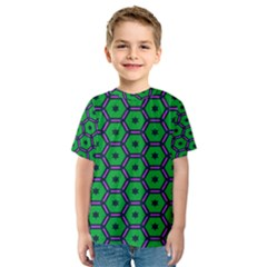 Stars in hexagons pattern Kid s Sport Mesh Tee