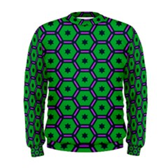 Stars in hexagons pattern  Men s Sweatshirt