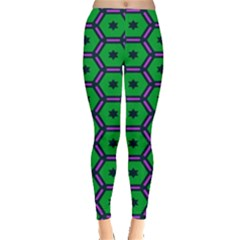 Stars in hexagons pattern Leggings