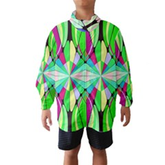 Distorted flower Wind Breaker (Kids)