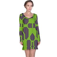 Brown Green Shapes Nightdress