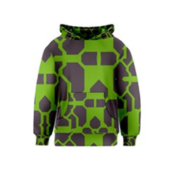 Brown green shapes Kid s Pullover Hoodie