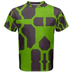 Brown Green Shapes Men s Cotton Tee