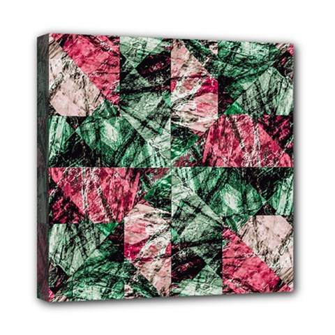 Luxury Grunge Digital Pattern Mini Canvas 8  x 8