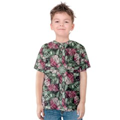 Grunge Check Printed Kid s Cotton Tee