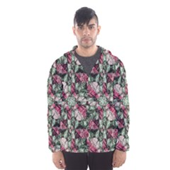 Grunge Check Printed Hooded Wind Breaker (Men)