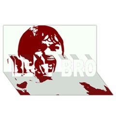 Psycho Best Bro 3d Greeting Card (8x4)