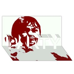 Psycho Party 3d Greeting Card (8x4)