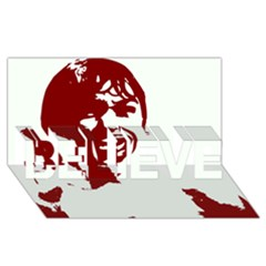 Psycho BELIEVE 3D Greeting Card (8x4)