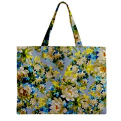 Vintage Floral Pattern Tiny Tote Bags