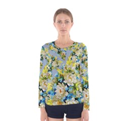 Vintage Floral Pattern Women s Long Sleeve T-shirts