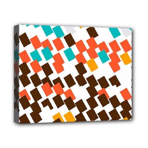 Rectangles on a white background Canvas 10  x 8  (Stretched)