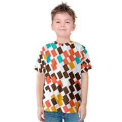 Rectangles On A White Background Kid s Cotton Tee