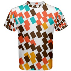 Rectangles on a white background Men s Cotton Tee