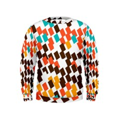 Rectangles on a white background  Kid s Sweatshirt