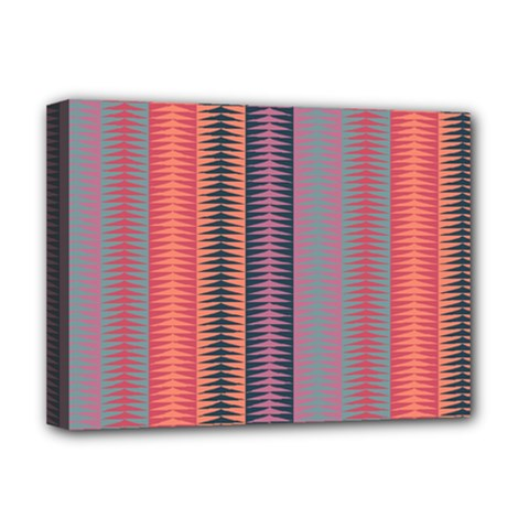 Triangles and stripes pattern Deluxe Canvas 16  x 12  (Stretched)