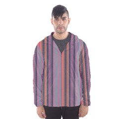 Triangles and stripes pattern Mesh Lined Wind Breaker (Men)