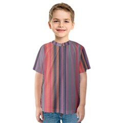Triangles and stripes pattern Kid s Sport Mesh Tee